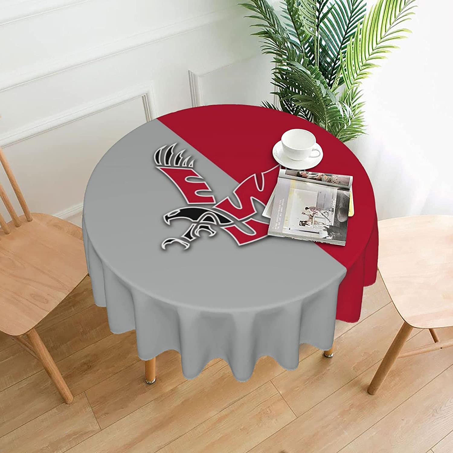 Eastern Washington University 60 Inch Rounded Tablecloth Decor Desk Oilproof Waterproof Tabletop Cover Cloth Table Cover for Buffet Party Dinner Picnic Kitchen
