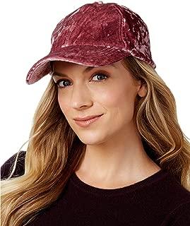 Womens Crushed Velvet Baseball Cap