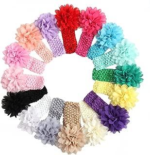 LD DRESS Baby Girl's Lovely Elastic Hairband Headwrap(21) (16 colors)