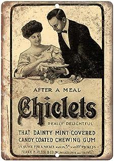 Lorenzo Chicklets - Placa de metal para masticar chicles, diseño de chicas de hierro