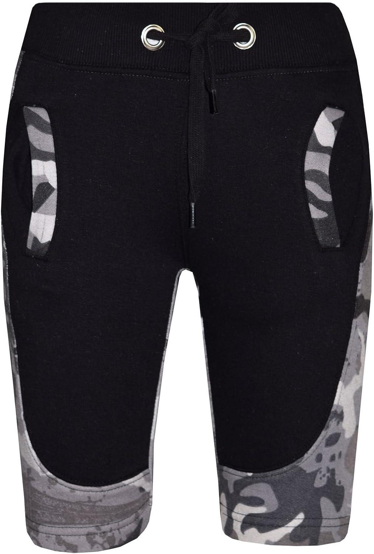 A2Z Kids Girls Boys Shorts Fleece Camouflage Charcoal Panel Chino Half Pants 5-13 Yr