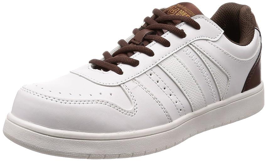 鷹ガソリン人工的な[キタ] 安全靴 作業靴 メガセーフティ ホワイトソール ローカットタイプ MK-5090