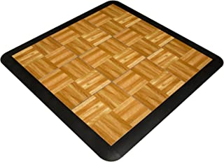SnapFloors 3X3OAKFLOOR Modular Dance Floor Kit (3' x 3'), OAK, 21 Piece