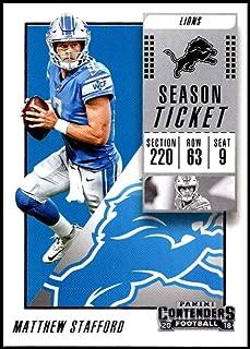 2018 Panini Contenders Season Tickets #66 Matthew Stafford Detroit Lions NFL Football Trading Card