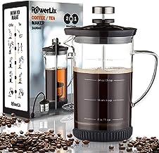 POWERLIX Cafetera de prensa francesa (34 oz) - Prensa de caf