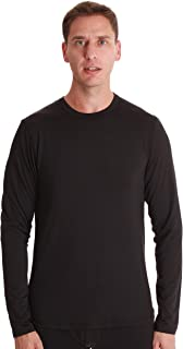 At The Buzzer Men's Long Sleeve Performance Thermal Shirt Compression Base Layer Crew Neck Top