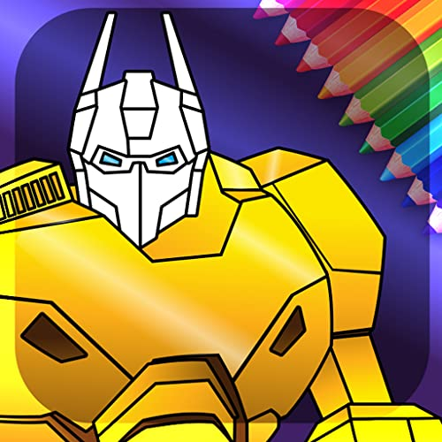 Animated Robots Coloring Book for Boys