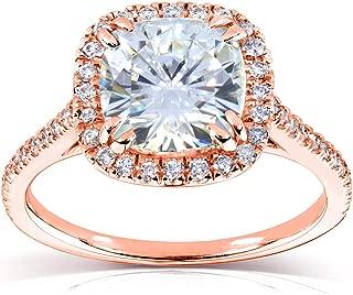 Cushion Moissanite Engagement Ring 2 1/4 CTW in 14k Rose Gold (7.5 mm)