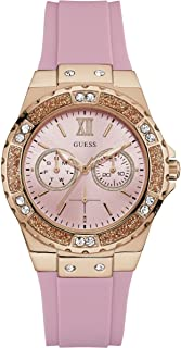 Guess Womens Analogue Quartz Watch with Silicone Strap W1053L3