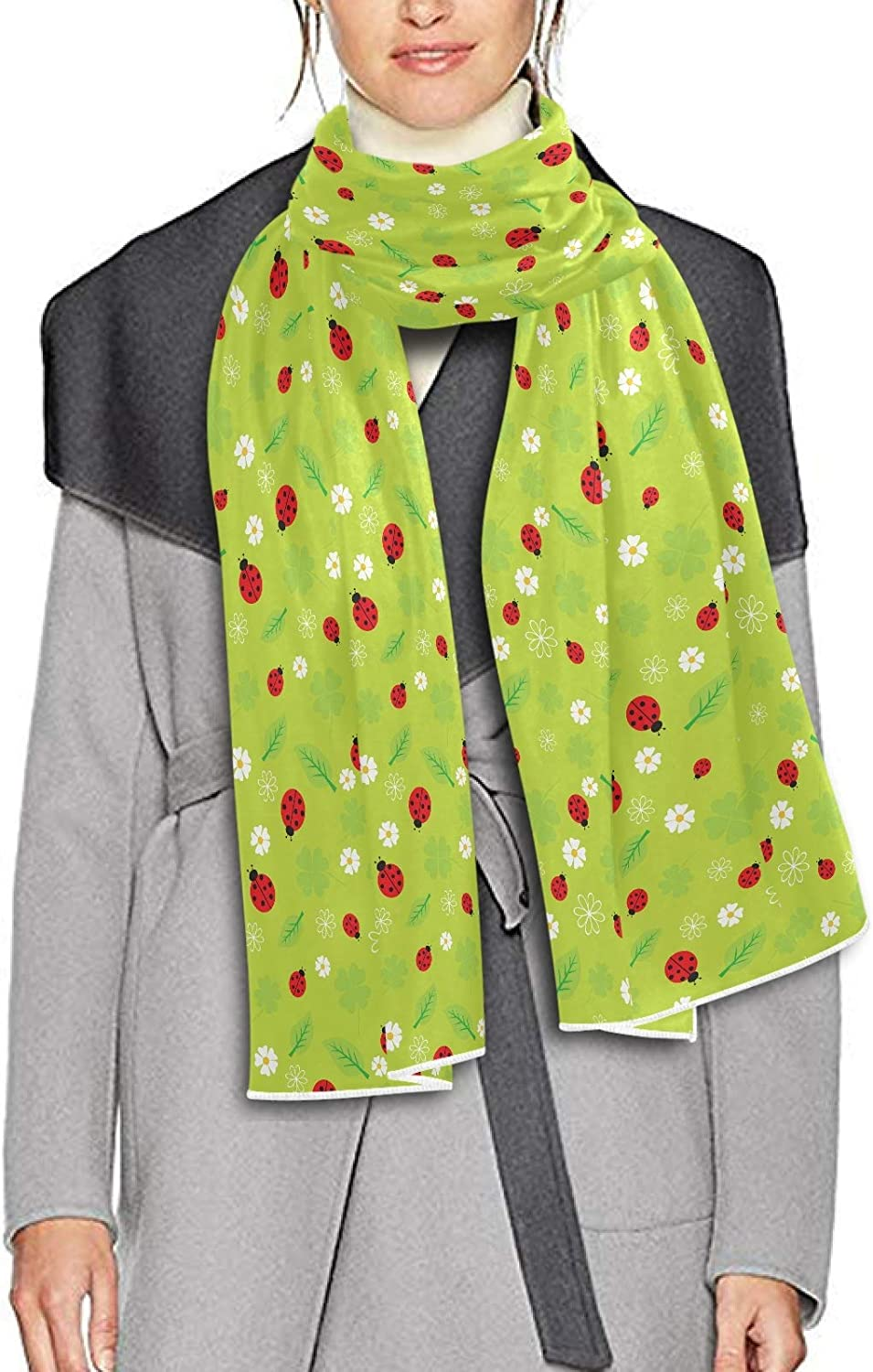 Scarf for Women and Men Beetles Ladybugs Scarab Shawls Blanket Scarf wraps Warm soft Winter Long Scarves Lightweight