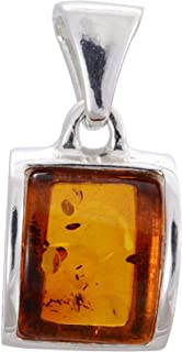 HolidayGiftShops Sterling Silver and Baltic Amber Pendant Lottie