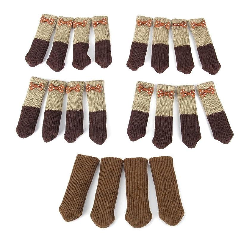 誕生伝記ピクニックをする【5組セット】椅子の靴下 ニット ブーティソックス リボン付 4組 & 無地 1組