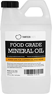 Thirteen Chefs Food Grade Mineral Oil for Cutting Boards, Countertops and Butcher Blocks - Food Safe and Made in The US 64...