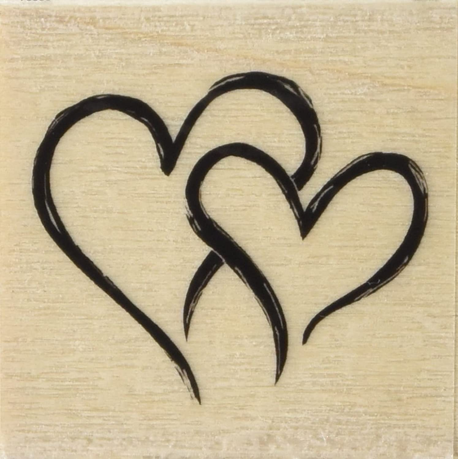 Inkadinkado Hearts Wood Stamp For Cards or Scrapbooking, 2'' W x 2'' L