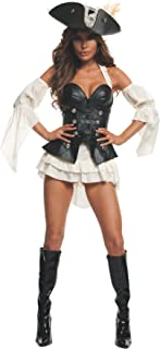 Women's Black Pearl Sexy Pirate Costume Set