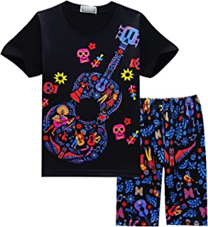 Boys' and Girls' Coco Home Clothes for Short Sleeves and Beach Pants Pajamas Set