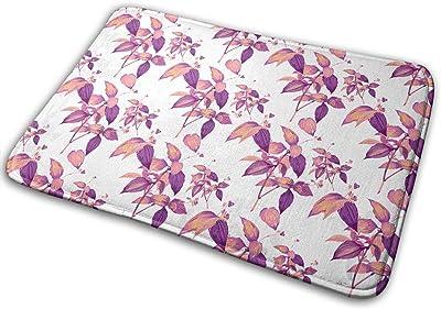 Tropical Exotic Plants Carpet Non-Slip Welcome Front Doormat Entryway Carpet Washable Outdoor Indoor Mat Room Rug 15.7 X 23.6 inch