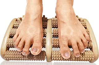TheraFlow Dual Foot Massager Roller (Large). Relieve Plantar Fasciitis, Stress, Heel,..