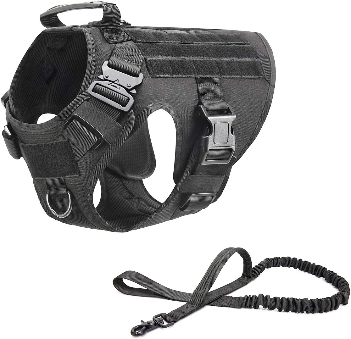 Kansas City Mall RubRab Tactical Dog Harness Max 43% OFF Vest Handle Tr with Working Military