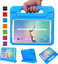 NEWSTYLE Tab E 9.6 Case - Shockproof Light Weight Protection Handle Stand Kids Case for Samsung Galaxy Tab E / Nook 9.6 Inch 2015 Tablet WiFi and Verizon 4G LTE Version (Blue) Not Fit Other Tablet