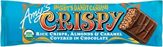 Amy's Organic Crispy Candy Bar, Almonds & Caramel, 1.5 Ounce (Pack of 12)