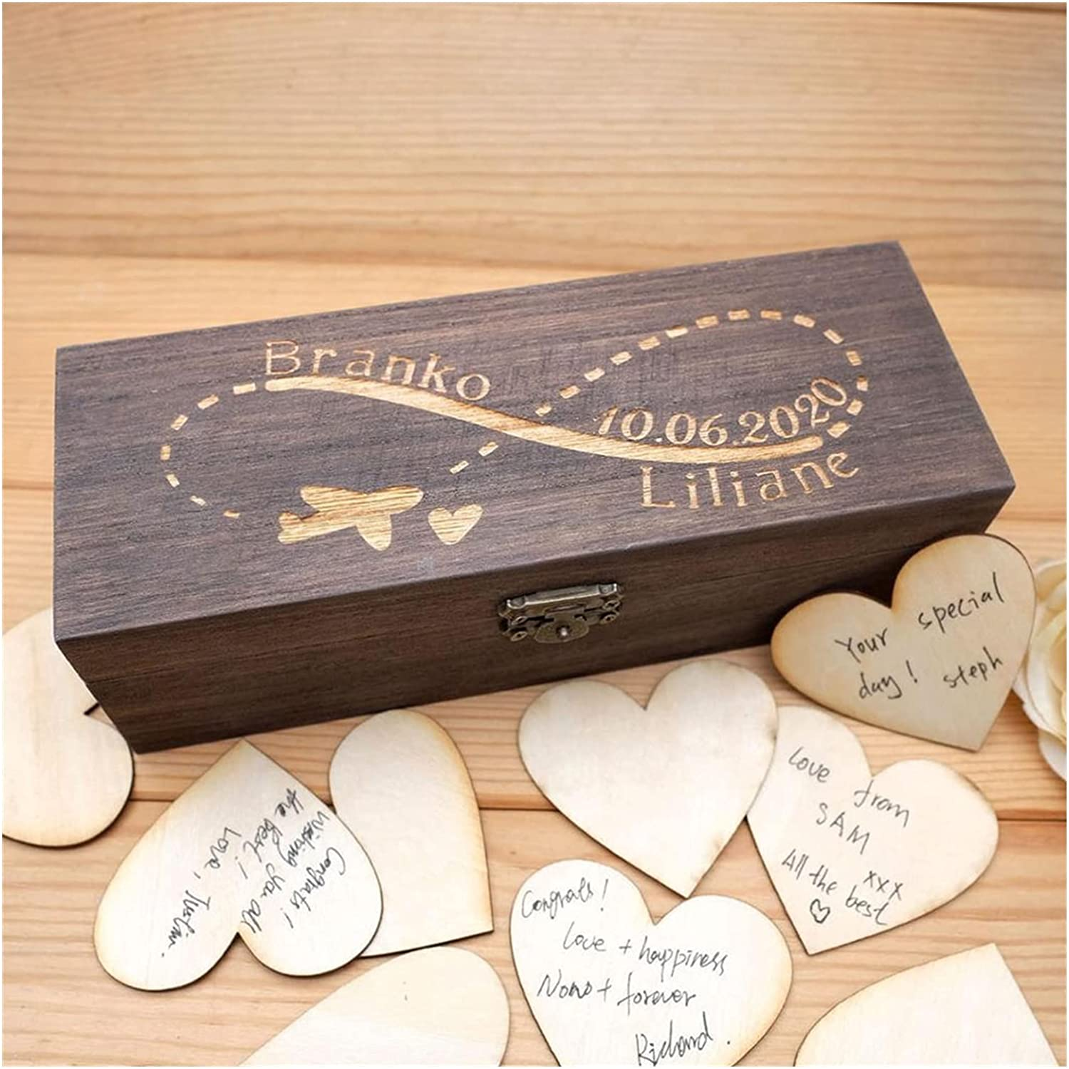 HUMINGG Wedding 4 years Tampa Mall warranty Guest Book Guestbook Drop Personalized H