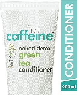 mCaffeine Naked Detox Green Tea Conditioner | Protein, Argan Oil | Smooth & Frizz Free Hair | All Hair | Silicone & SLS Free | 200 ml