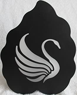Partylite SWAN TEALIGHT Wall or Table SCONCE Black WROUGHT IRON w Cut Out SWAN MOTIF & Frosted GLASS Insert