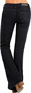 Rock & Roll Cowgirl Women's Dark Wash Low Rise Trouser Western Jeans