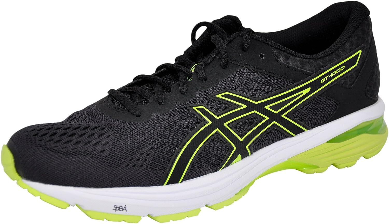 ASICS Hommes's GT-1000 6 FonctionneHommest chaussures, noir Safety jaune noir, 13 M US
