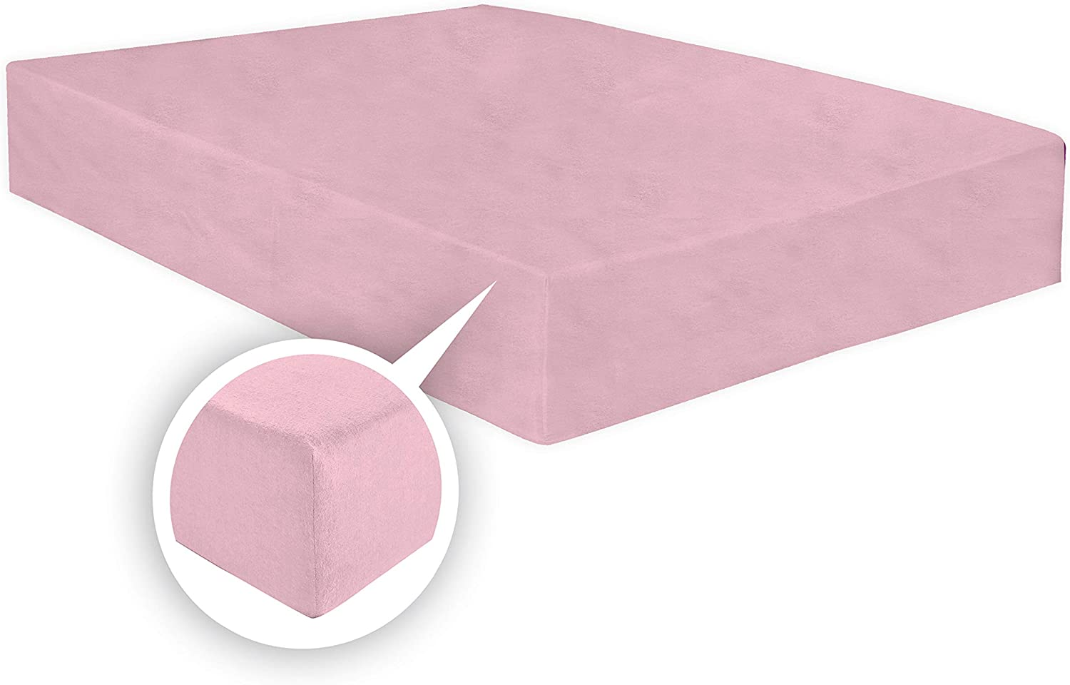 White, Pair of pillowcase ARLINENS Thermal Flannelette Fitted Sheet 25cm 100/% Brushed Soft Cotton available in 7 colours