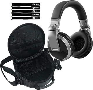 $108 » Pioneer DJ HDJ-X5 Professional Over-Ear DJ Headphones Silver w Carrying Case