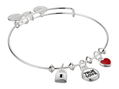 Alex and Ani True Love Trio Charm Bangle Bracelet (Silver) Bracelet