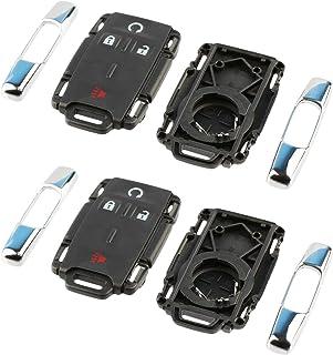 $24 » Just the Case Keyless Entry Remote Key Fob Shell for Chevy Silverado Colorado GMC Sierra (M3N-32337100 Chrome), Set of 2