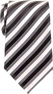 Retreez Retro Three-Color Striped Woven Microfiber Men's Tie