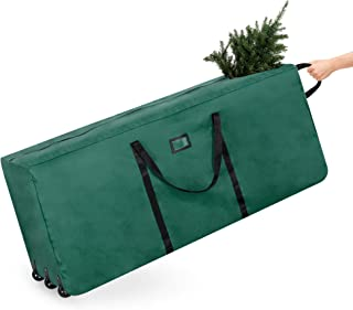 Best Choice Products 600D Polyester Rolling Duffel Storage Bag for Up To 9ft Christmas Tree with Handle, Green