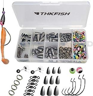 THKFISH Kit de señuelos de Pesca,Texas Rig,Carolina Rig,Gan
