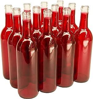LD Carlson 750 ml Red Bordeaux Bottles, 12 per case