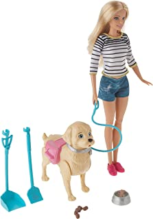 Barbie Walk & Potty Pup with Blonde Doll