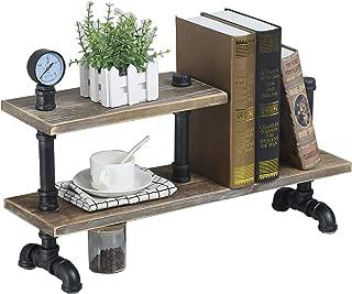 MBQQ Industrial Pipe Wood Shelf Desk Organizer,24