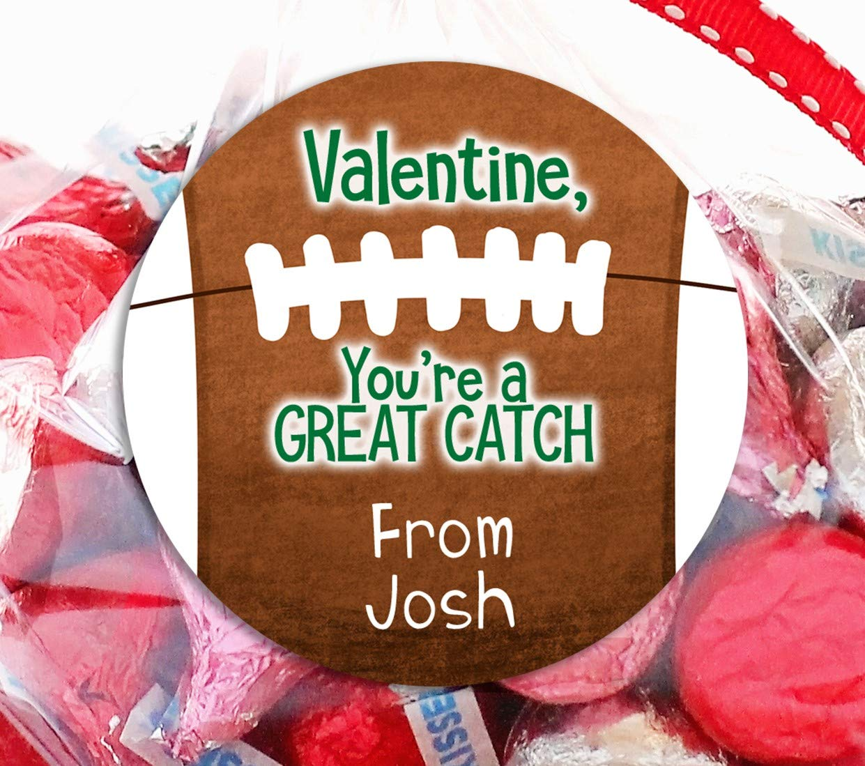 Football Ranking TOP14 Valentine's Day Personalized Valentine Stickers Favor - Free shipping New