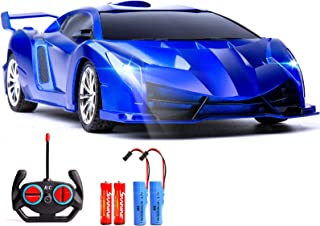 Danvren Remote Control Car 1/18 Rechargeable RC Cars Toys for Boys Girls High Speed Drift Vehicle Racing Hobby with Led Li...