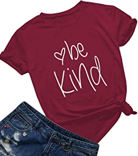 Mom's care Be Kind T Shirts Women Cute Graphic Blessed Shirt Funny Inspirational Teacher Fall Tees Tops