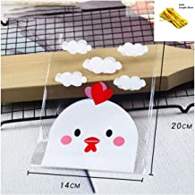 10 sets Cookie Candy Bread Self Stand Packing Bags Pink Dot Clear Party Chocolate Wedding Bags,Clear Chicken
