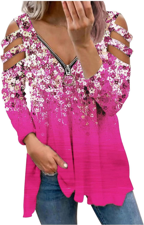Women Long Sleeve Shirts,Kirbyates Women's Color Block Hooded Long Sleeve Pullover Jacket Sweatshirts Zip-Up Hoodie Jacket for Women with Pockets Hot Pink