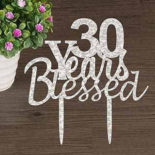 30 year anniversary cake topper