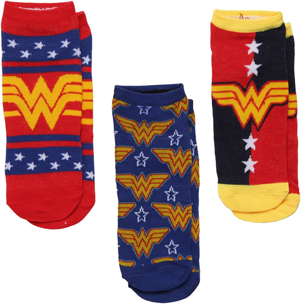 Wonder Woman Socks Mail order cheap - 3-pack Low-cut Outlet ☆ Free Shipping Women's