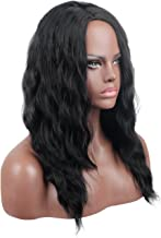 Kalyss Long Black Curly Wavy Wigs for Black Women Side Parting Synthetic Wigs Cosplay Costume Party Hairpiece