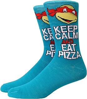 Teenage Mutant Ninja Turtles Keep Calm & Eat Pizza Adult Crew Socks