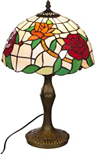 Tischlampe im Tiffany Style, Tiff 133, Tischlampe Motiv Lampe, Dekorationslampe, Tiffany Style, Glaslampe, Leuchte,Tischlampe, Stehleuchte, Stehlampe, Leuchte Lampe
